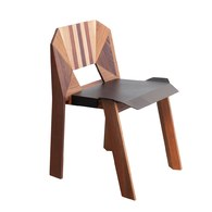 泰國OKWood 幾何造型單人椅 (柚木)