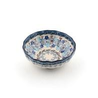 荷蘭BunzlauCastle 多色地中海圖紋波浪型陶碗