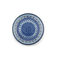 荷蘭BunzlauCastle 蔚藍珊瑚圖紋陶盤 (直徑23.5公分)