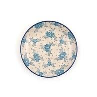 荷蘭BunzlauCastle 霜花圖紋陶盤 (直徑23.5公分)