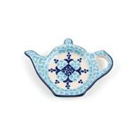 荷蘭BunzlauCastle 希臘清新圖紋茶壺造型碟