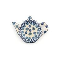 荷蘭BunzlauCastle 冬季花園圖紋茶壺造型碟