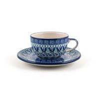 荷蘭BunzlauCastle 地中海風格圖紋午茶杯盤組 (200毫升)