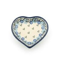 荷蘭BunzlauCastle 皇家藍花圈圖紋心型茶包碟