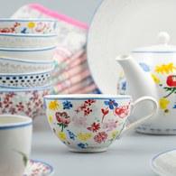 荷蘭FloraCastle 繽紛花朵圖紋咖啡杯 (310毫升)