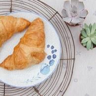 荷蘭FloraCastle 水藍色桔梗花圖紋餐盤 (直徑27公分)