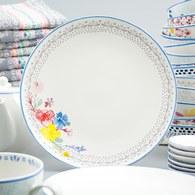 荷蘭FloraCastle 多色花束圖紋餐盤 (直徑27公分)