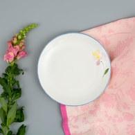 荷蘭FloraCastle 粉晶色飄香花圖紋餐盤 (直徑21.5公分)