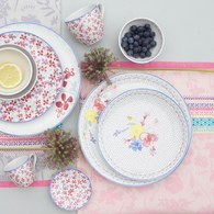 荷蘭FloraCastle 多色花束圖紋餐盤 (直徑21.5公分)