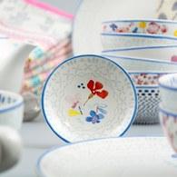 荷蘭FloraCastle 淡雅民族風圖紋茶包碟/醬料碟 (直徑10公分)
