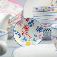 荷蘭FloraCastle 繽紛花朵圖紋甜點盤 (直徑10公分)