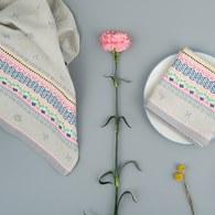 荷蘭FloraCastle 灰色點綴花紋茶巾