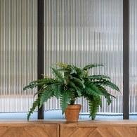 荷蘭Emerald人造植栽 深綠色羊齒蕨 (紅盆、48葉)