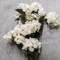 荷蘭Emerald人造花藝 奶油白繡球花 (長84公分)