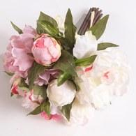 荷蘭Emerald人造花藝 粉色牡丹花束
