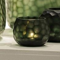 德國Guaxs玻璃燭台 SOMBA系列 (墨綠、高8公分)