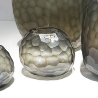 德國Guaxs玻璃花器 SOMBA系列 (灰褐、高12公分)
