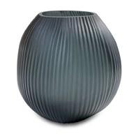 德國Guaxs頂級工藝玻璃 NAGAA花器 墨青色(中)