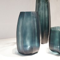 德國Guaxs玻璃花器 KOONAM系列 (洋藍、高40公分)