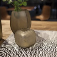 德國Guaxs玻璃花器 YAVA系列 (淺褐、高8公分)