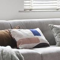 荷蘭HkLiving 風格線條雙面刷色靠枕