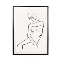 荷蘭HkLiving 極簡線繪法式女人掛畫
