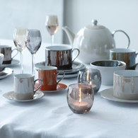 英國LSA 霓彩亮釉Espresso杯盤4入組 (棕色系)