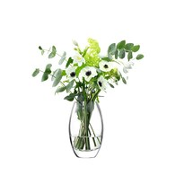 英國LSA 花苞曲線花器 (透明、高23.5公分)