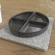 丹麥LeneBjerre 黑白水磨石系列餐碟組