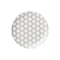 丹麥LeneBjerre 格菱紋圓型餐盤 (直徑25公分)