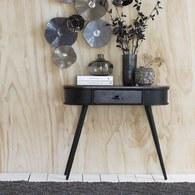 丹麥LeneBjerre 極簡橢圓型收納邊櫃