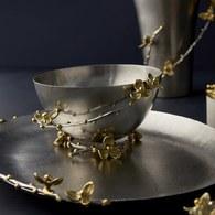 美國MichaelAram工藝飾品 白英苦甜藤系列堅果點心碗