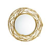 美國Michael Aram工藝飾品 黃金麥穗系列圓鏡