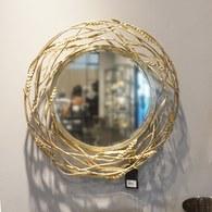 美國MichaelAram工藝飾品 黃金麥穗系列圓鏡