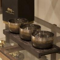 美國Michael Aram工藝飾品 火炬系列點心碗托盤組