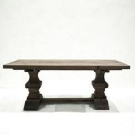 荷蘭PURE 雕刻造型桌腳可延伸餐廳方桌 (煙燻棕、長200~290公分)