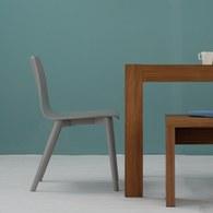 丹麥Sketch 簡約木作L型單椅 (灰)