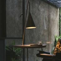 WOHAbeing CRAB螃蟹系列三角吊燈圓邊桌 (黑)