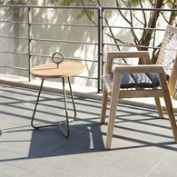 荷蘭Woven+戶外家具 海之女神柚木邊桌 (青苔綠)