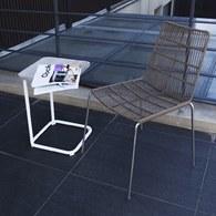 荷蘭Woven+戶外家具 狐步舞曲方形邊桌 (白)