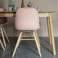荷蘭Zuiver 艾伯特簡約弧形單椅 (淡粉)
