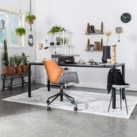 荷蘭Zuiver 倒角設計餐廳餐桌 (黑、長180公分)