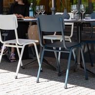 荷蘭Zuiver 返校休閒可堆疊戶外單椅(灰藍)