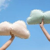 西班牙Nobodinoz有機棉棉花糖雲朵靠枕 (夢幻粉)