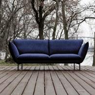 波蘭Sits Hugo金屬腳布面三人沙發 (深藍)