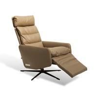 波蘭Sits 生活玩家皮革電動扶手椅 (淡棕)