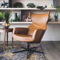 波蘭Sits 尊寵限定皮革扶手電動椅 (拿鐵棕)