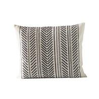 丹麥tineKhome 針織葉片紋長形靠枕 (黑、長60公分)