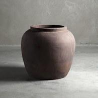 丹麥tineKhome 泥炭色復古花器 (直徑50公分)