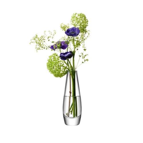 英國LSA 水滴弧底玻璃花器 (清透、高17公分)